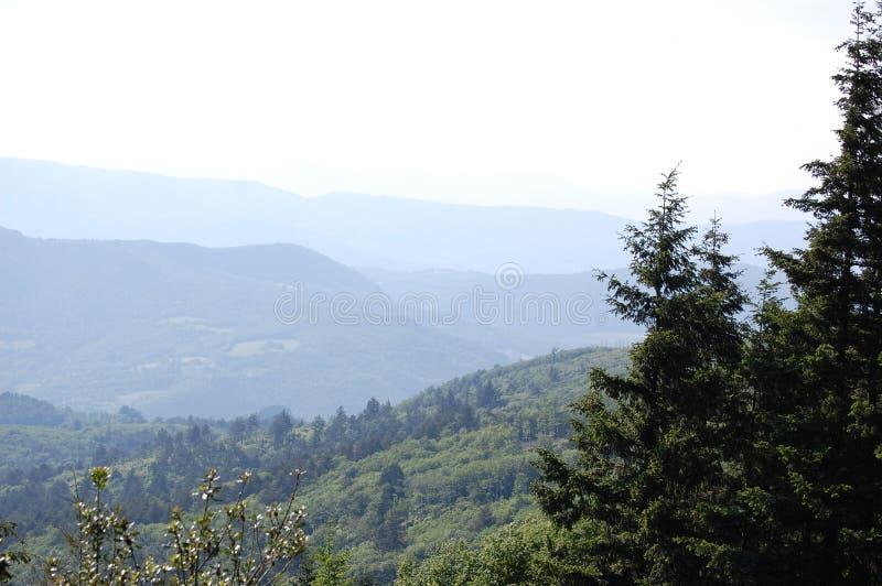 Green park tuscany mount royalty free stock photos