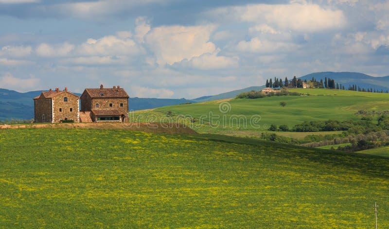 Tuscany liggande arkivbilder