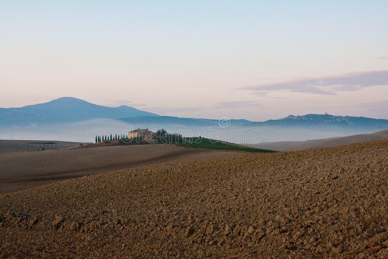 Tuscany near pienza stock photography
