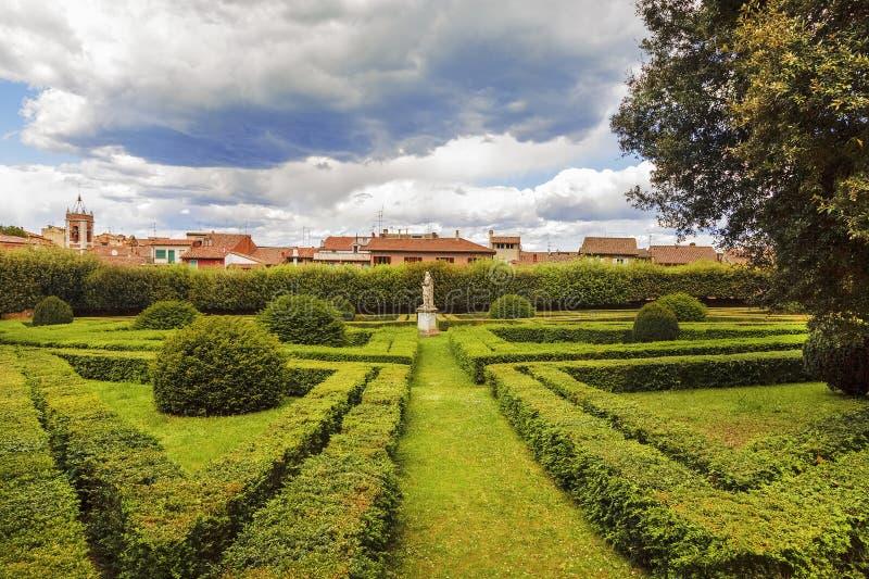 Tuscany region, San Quirico d`Orcia. Famous Italian garden of Horti Leonini royalty free stock photography