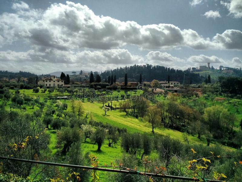 Tuscany in spring, Florence stock photos