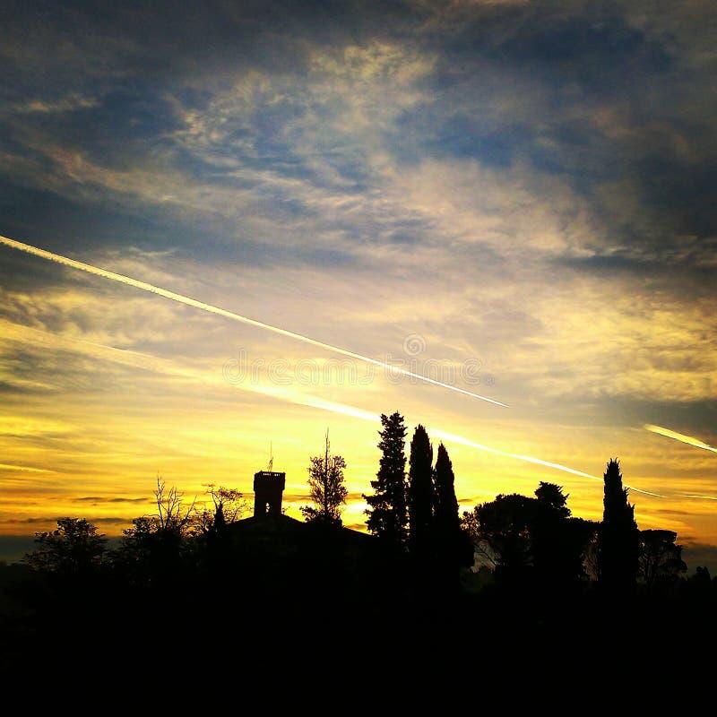 Tuscany Sky stock photography