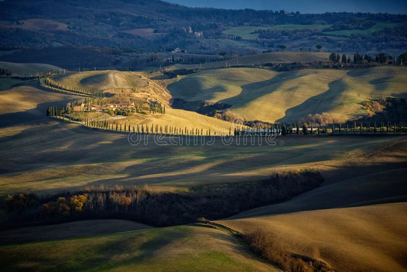 Tuscany, Val d`Arbia, panoramic landscape – Italy royalty free stock photo