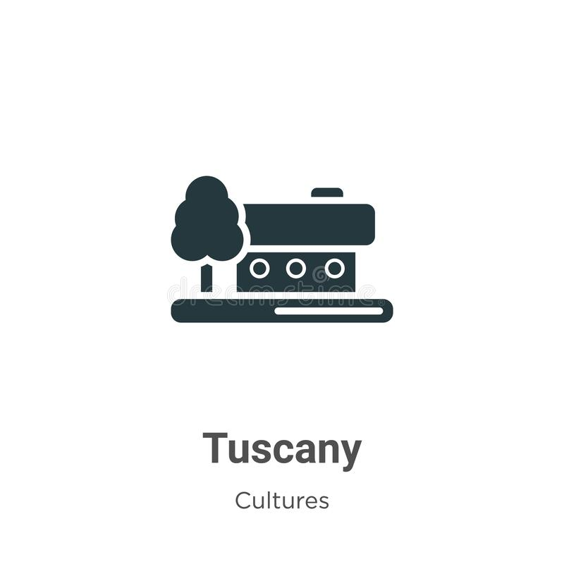 Tuscany vector icon on white background. Flat vector tuscany icon symbol sign from modern cultures collection for mobile concept vector illustration