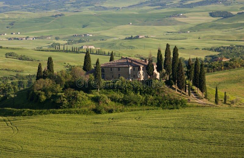 Tuscany villa royalty free stock photography