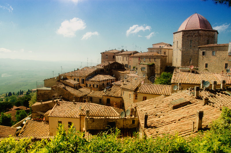 Tuscany village royalty free stock photography