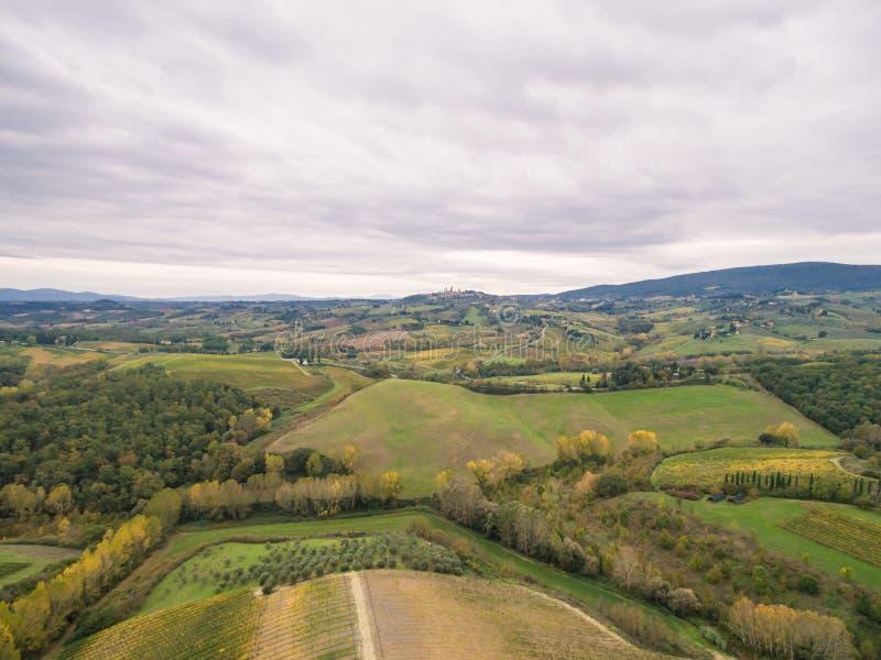 Tuscany vineyards. Near San Gimignano stock photo