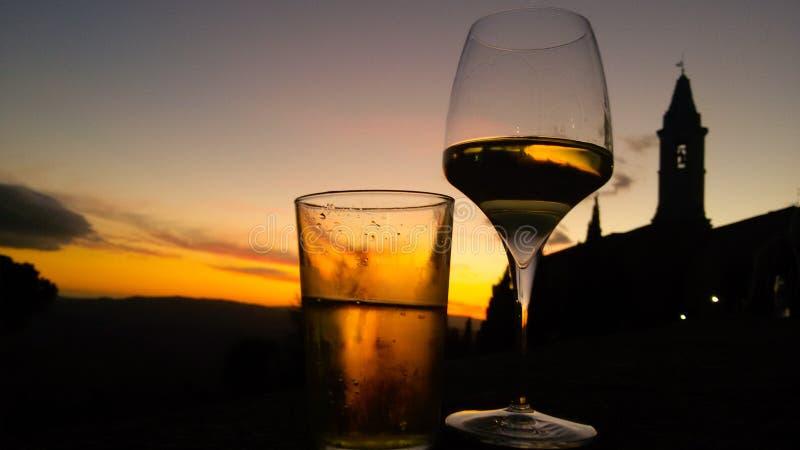 Tuscany vinregionen arkivfoton