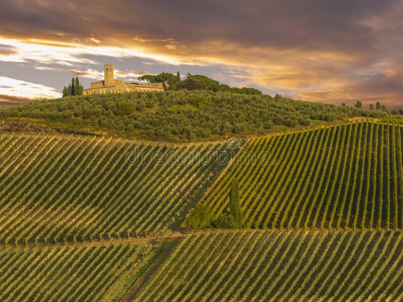 Tuscany, Włochy. krajobraz zdjęcie royalty free