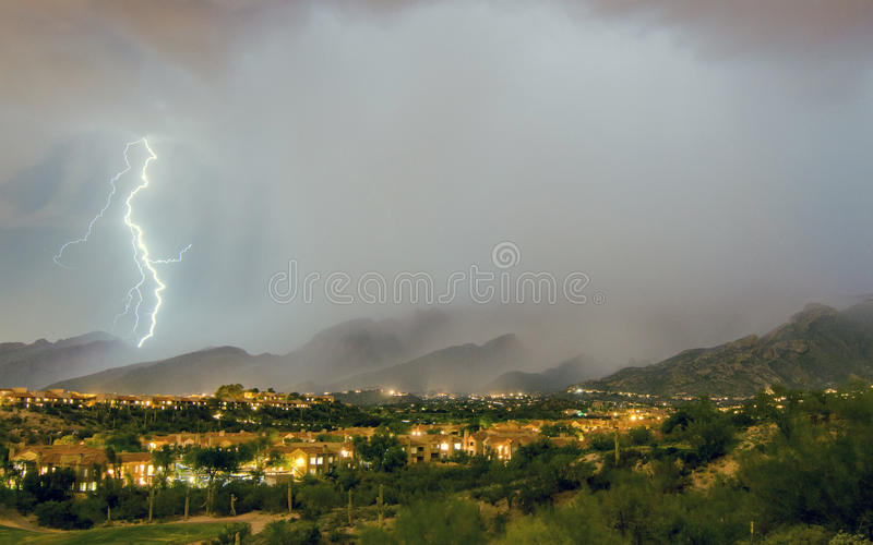 Tuscon, AZ, lightning stock photography