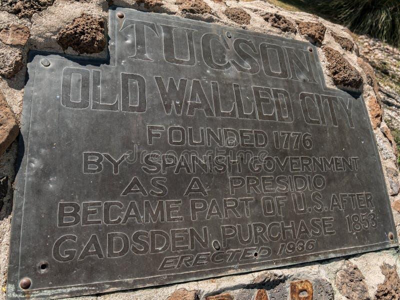 Tuscon, ciudad emparedada vieja foto de archivo