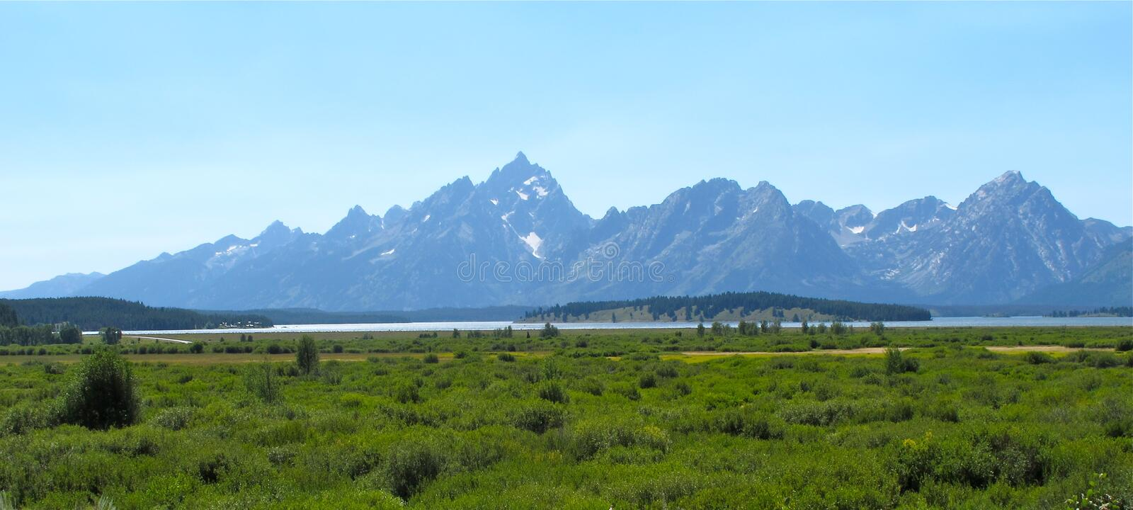 tusen dollar landscapes nationalparkteton arkivbilder