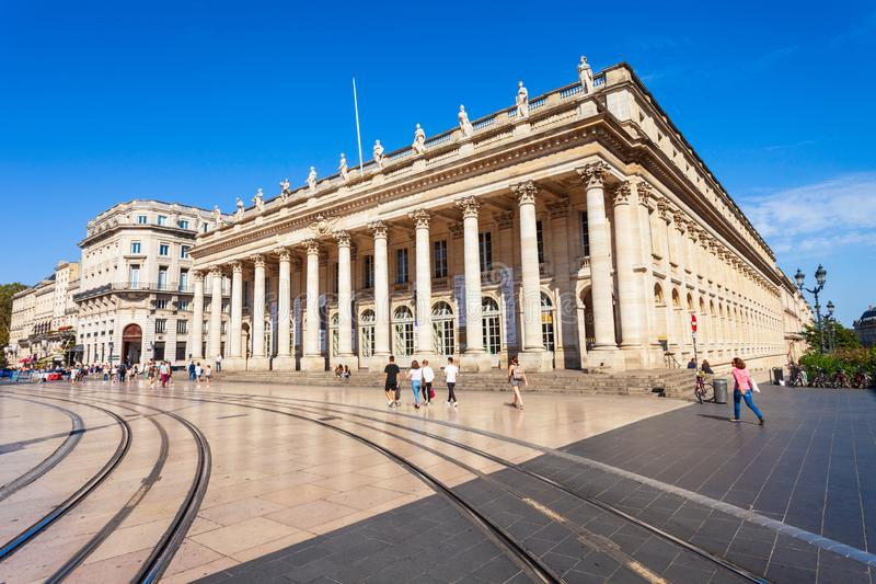 Tusen dollar Teater de Bordeaux, Frankrike arkivfoton