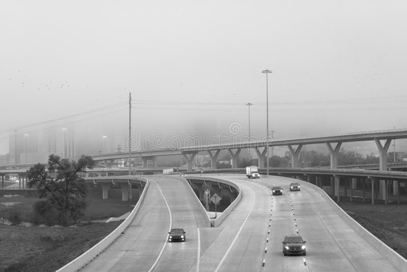 45 tusen staten in mist, in Houston, Texas royalty-vrije stock foto's