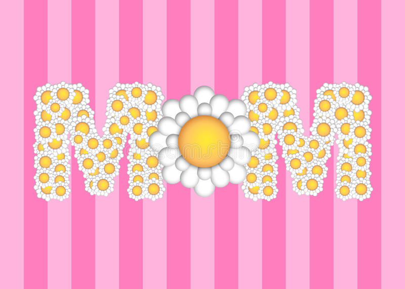 tusenskönadagen blommar den lyckliga modermodellen royaltyfri illustrationer