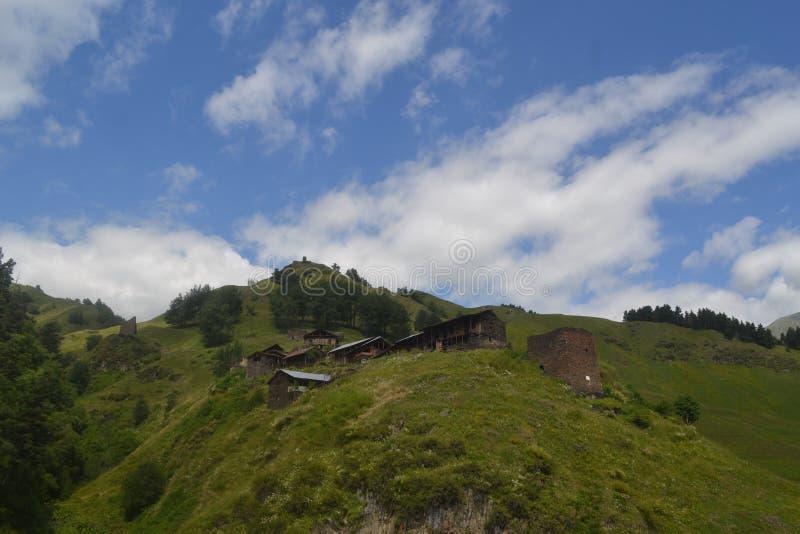 Tusheti village Alisgori. Its a tusheti mountainsvillage alisgori. which is 3300 meter above sea stock image