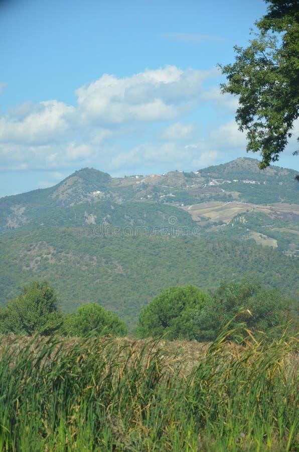 Tussen Apulia en Basilicata, Itali? stock foto's