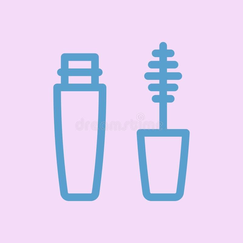 Tusz do rz?s kreskowa ikona Kosmetyk ikona ilustracji
