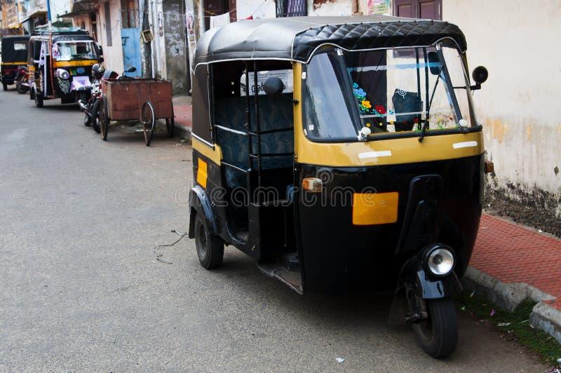 Tut-tuk - auto táxi do riquexó em India foto de stock royalty free