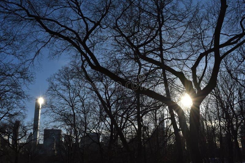 Tutaj przychodzi słońce fotografia stock