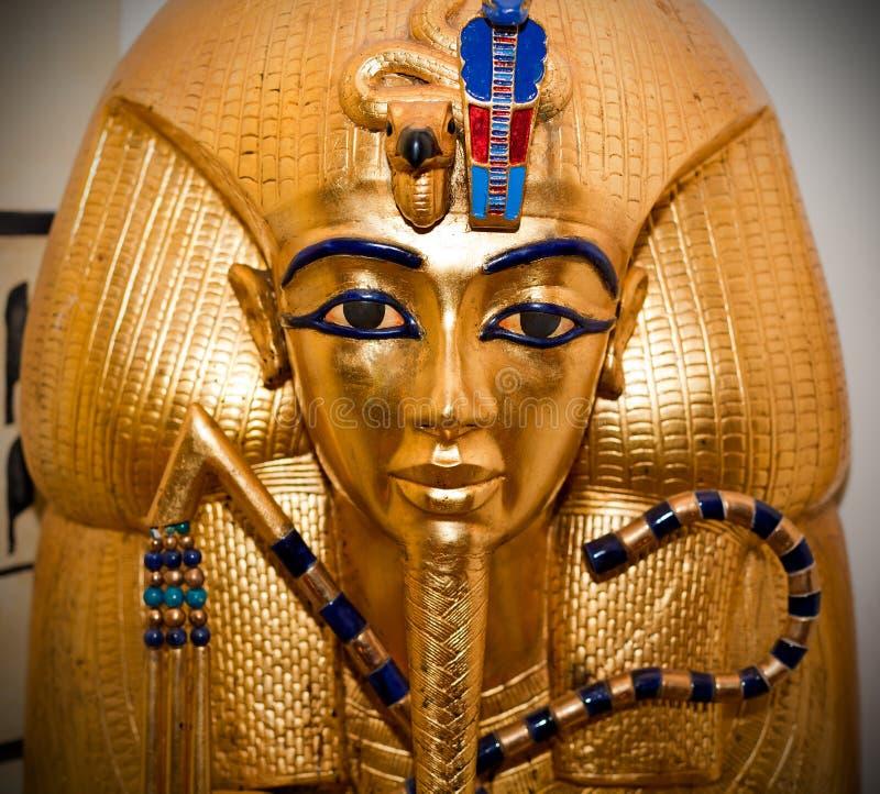 Tutankhamen goldene Schablone lizenzfreie stockfotos