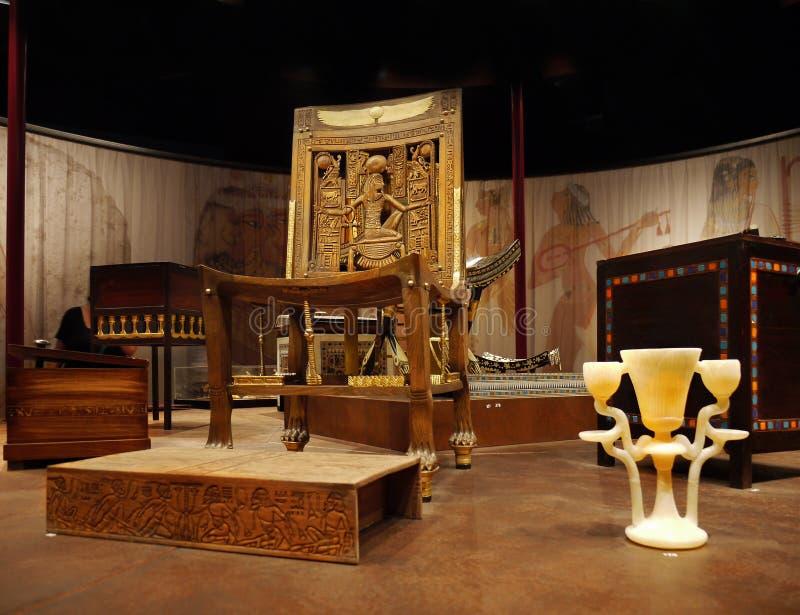 Tutankhamen- hans gravvalv och skatter arkivfoton