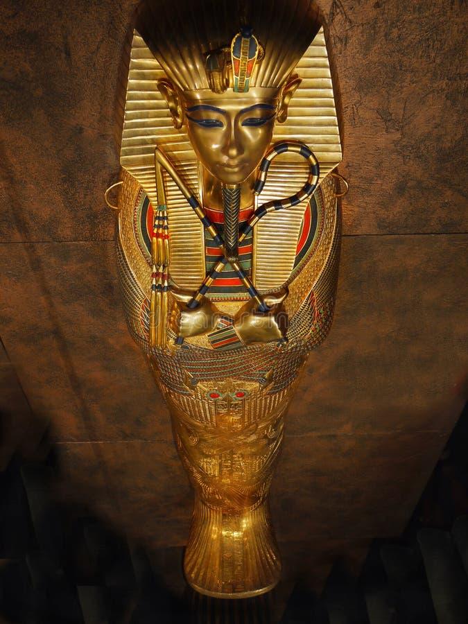 Tutankhamen- Jego skarby i grobowiec zdjęcia stock