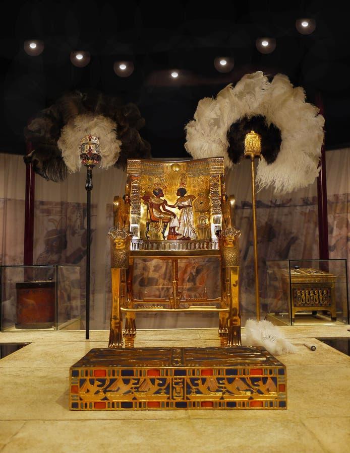 Tutankhamen uppskattar Egypten royaltyfria foton