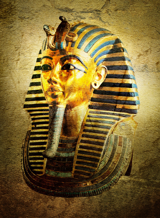 Tutankhamon stock illustratie