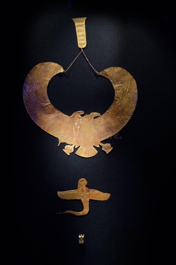 Tutankhamun陈列在巴黎 免版税库存图片