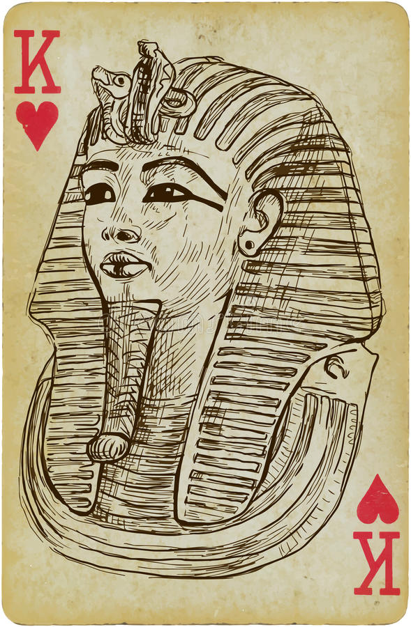 Tutankhamun stock de ilustración