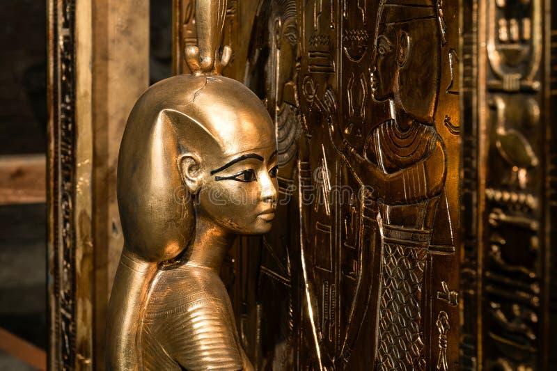 Tutankhamun Canopic寺庙  陈列在彼得和保罗堡垒 库存图片