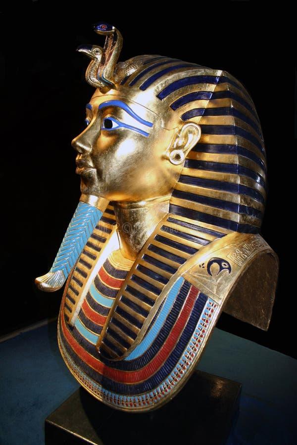 Tutankhamun death mask copy royalty free stock image