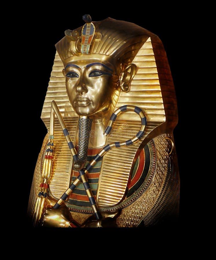 Tutankhamun forntida Egypten royaltyfria bilder