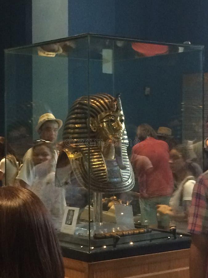 Tutankhamun i det egyptiska museet i cairo i Egypten i africa Berömt civilisation royaltyfri foto