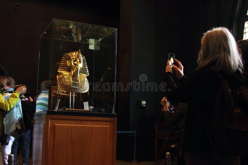 Tutankhamun im ägyptischen Museum lizenzfreies stockbild