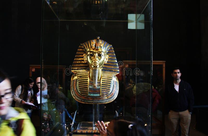 Tutankhamun im ägyptischen Museum lizenzfreie stockfotografie