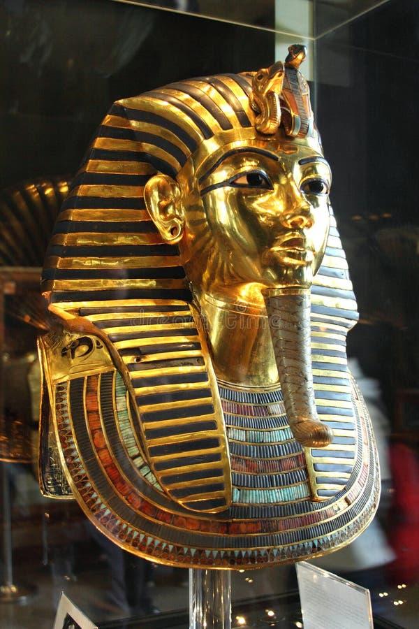 Tutankhamun im ägyptischen Museum lizenzfreie stockbilder