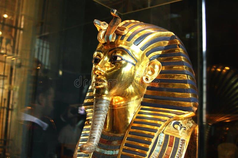 Tutankhamun im ägyptischen Museum stockbild