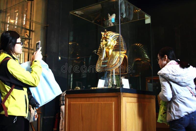 Tutankhamun im ägyptischen Museum lizenzfreies stockfoto