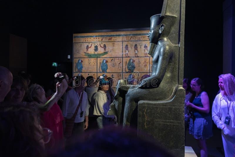 Tutankhamun Paris 2019 stockfotografie