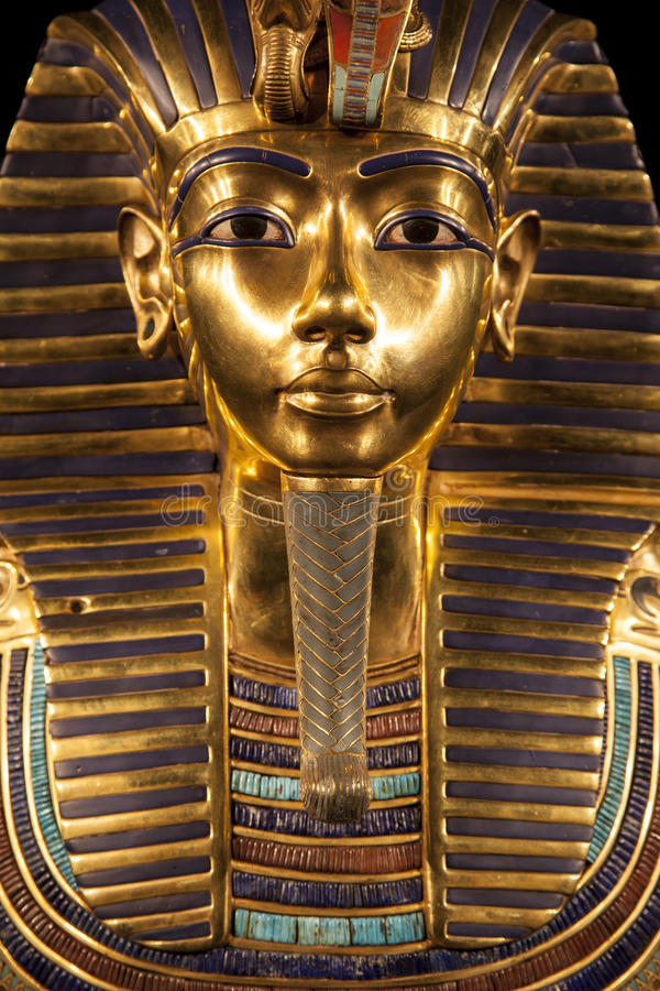 Tutankhamun's burial mask stock photos