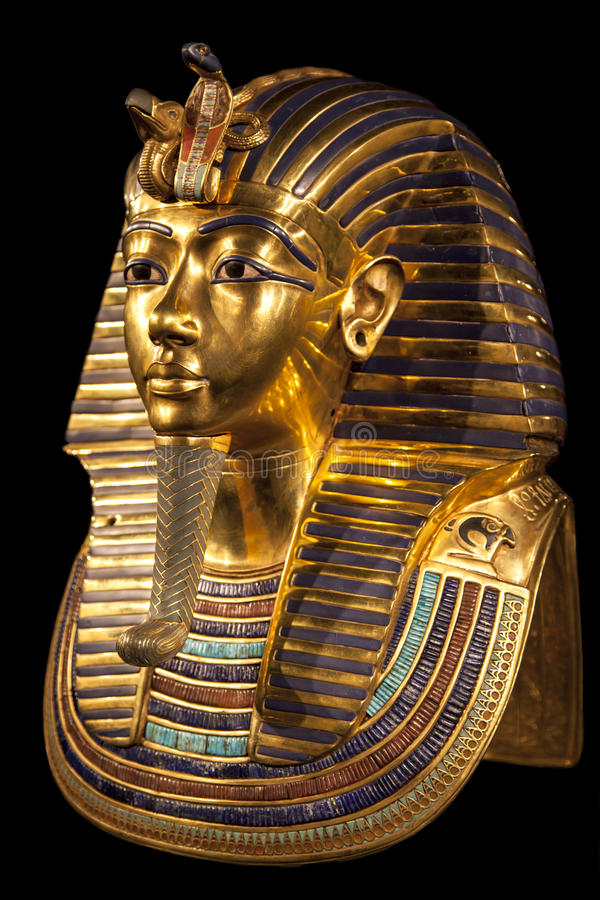 Download Tutankhamun's burial mask stock photo. Image of tomb - 48081170
