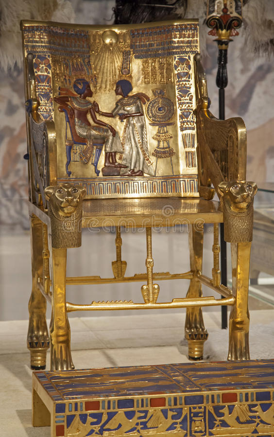 Download Tutankhamun's Gold Throne stock image. Image of view - 48095225
