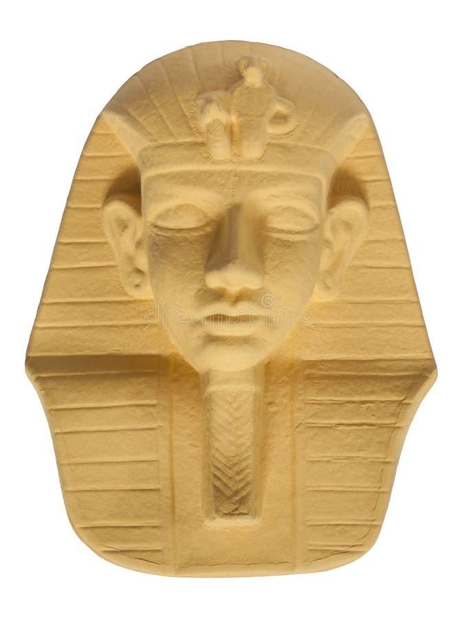 Tutankhamun`s mask / Isolated white stock photos