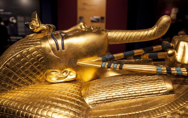 Download Tutankhamun's sarcophagus stock image. Image of tutankhamen - 48080067