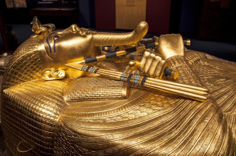 Download Tutankhamun's sarcophagus stock image. Image of archeological - 48080297