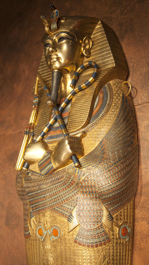 Tutankhamuns sarkofag arkivfoto