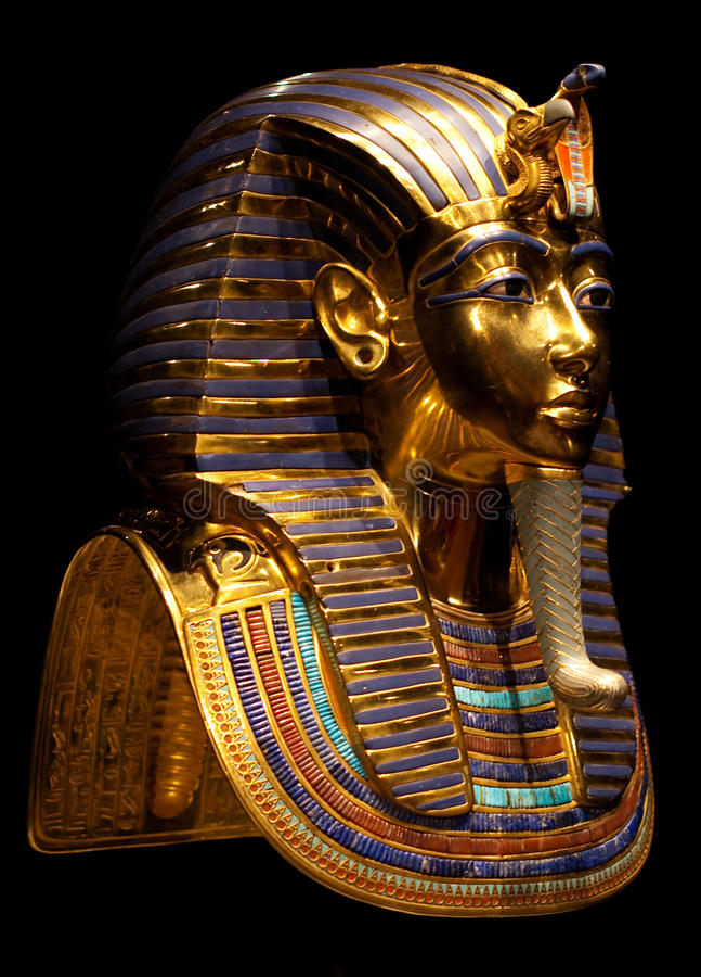 Tutankhamuns Schablone lizenzfreies stockbild