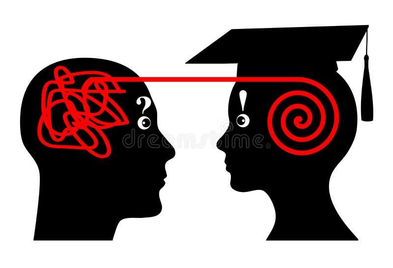 Tutoría de la universidad stock de ilustración